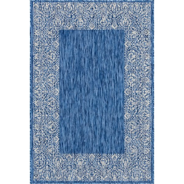 Lamere Power Loom Polypropylene Blue Indoor/Outdoor Area Rug by Charlton Home