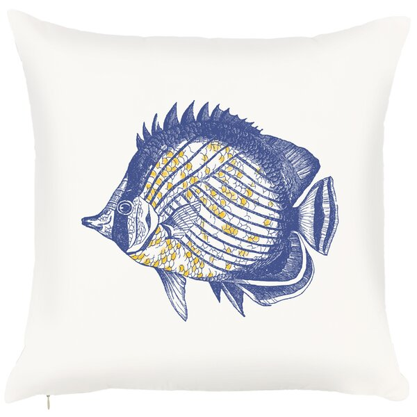 Costal Fish Throw Pillow by Debage Inc.