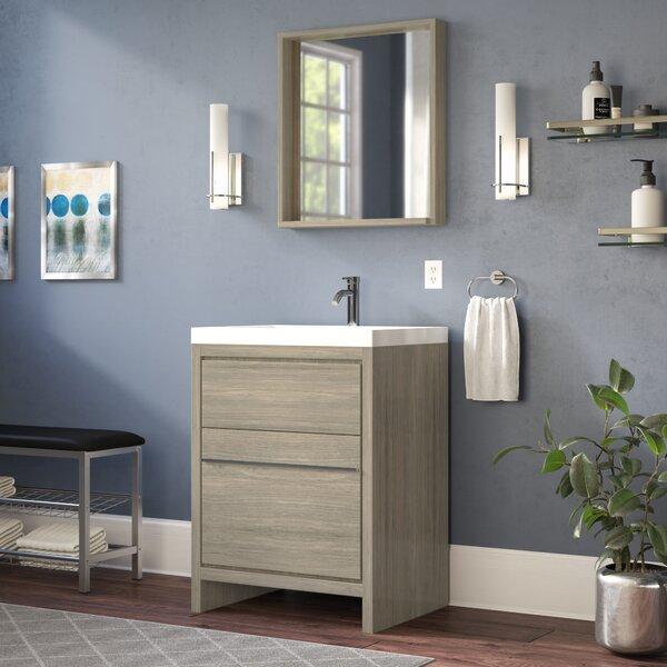 Waldwick 24 Single Modern Bathroom Vanity Set with Mirror by Wade Logan