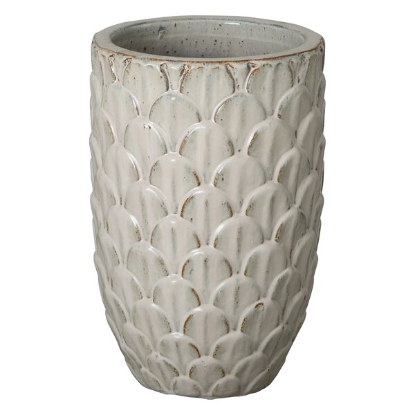 Pine Cone Ceramic Pot Planter by Emissary Home and Garden