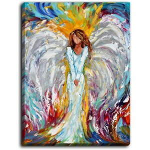 'Angel Watching Over Me' by Karen Tarlton Painting Print on Wrapped Canvas by DiaNoche Designs