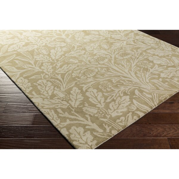Oneill Hand-Tufted Wool Green/Neutral Area Rug by Darby Home Co