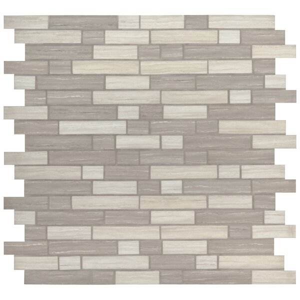 Silva Random Sized Glass Mosaic Tile in Gray by MSI