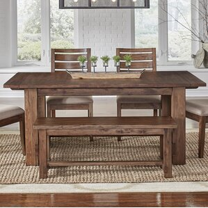 Johnston Trestle Extendable Dining Table by Loon Peak