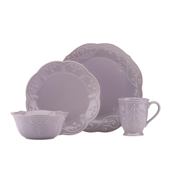 French Perle Violet 4 Piece Place Setting, Service for 1 by Lenox