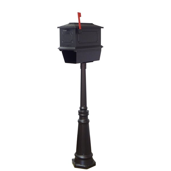 Kingston Curbside Mailbox with Tacoma Post Included by Special Lite Products