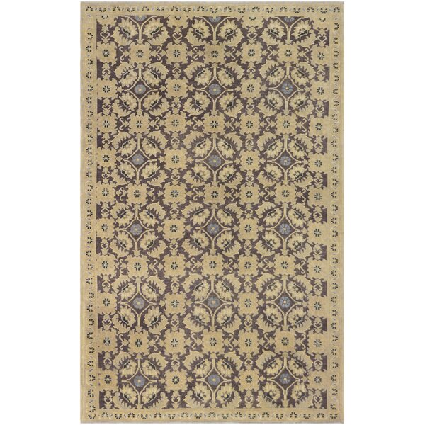 One-of-a-Kind Khotan Quality Hand-Knotted Wool Beige Indoor Area Rug by Mansour