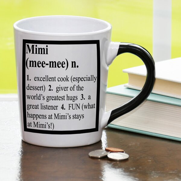 20 oz Mimi Definition Stoneware Coffee Mug by New Morning Imports