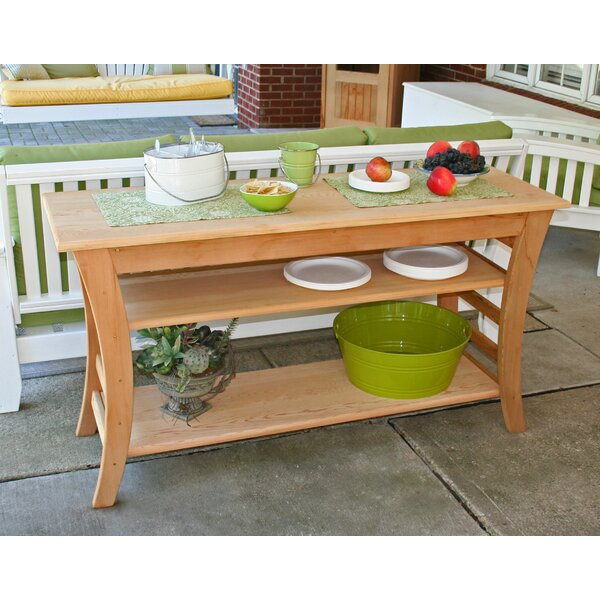 Cedar Entertaining Buffet Table by Creekvine Designs