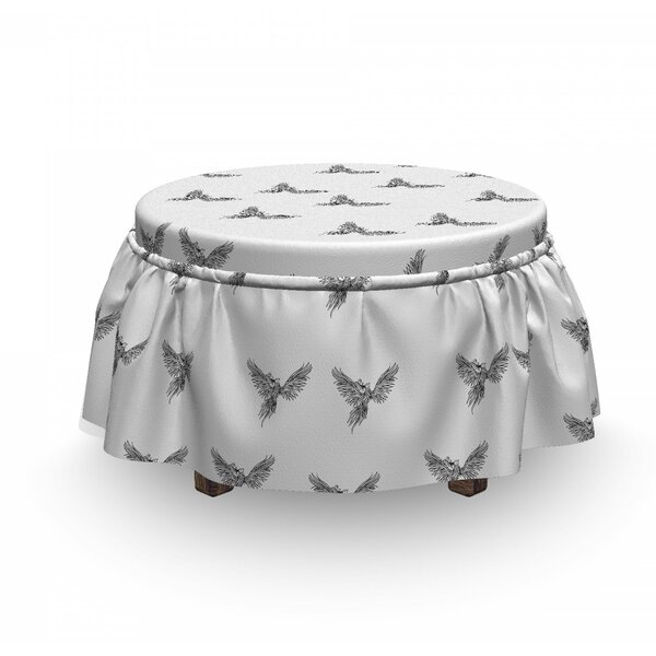 Tattoo Ottoman Slipcover (Set Of 2) By East Urban Home