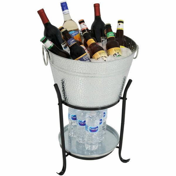 Ketchum Ice Bucket Drink Cooler with Stand and Tra