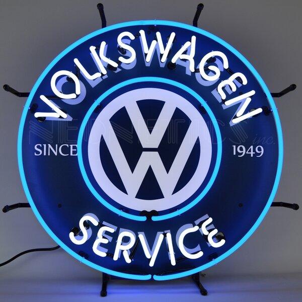 Volkswagen Service Neon Sign by Neonetics