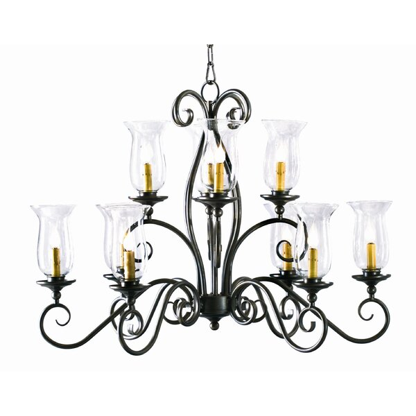 10 - Light Shaded Tiered Chandelier by 2nd Ave Design 2nd Ave Design