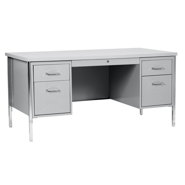 500 Series 5 Drawers Double Pedestal Executive Desk by Sandusky Cabinets