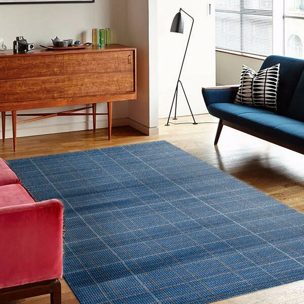 Cretien Blue Indoor/Outdoor Area Rug by Ebern Designs