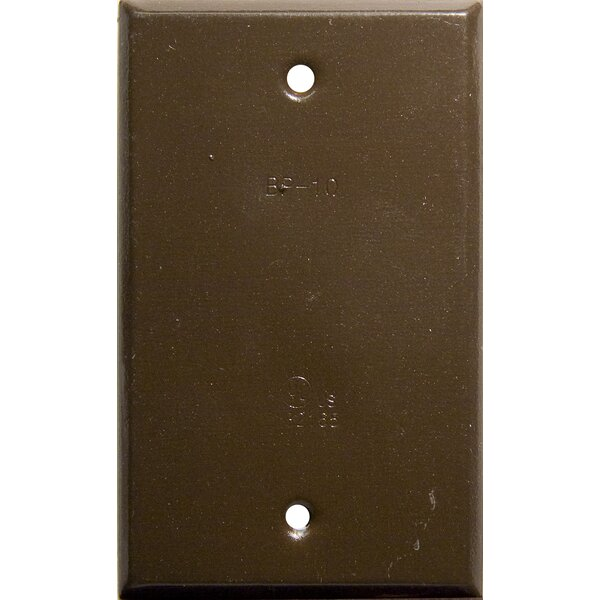 Vertical Blank One Gang Weatherproof Covers in Bronze by Morris Products