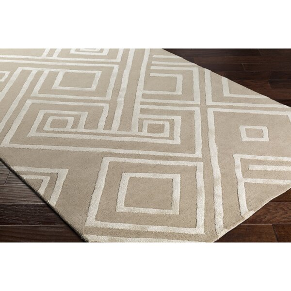 Vazquez Hand-Tufted Neutral Area Rug by Wrought Studio