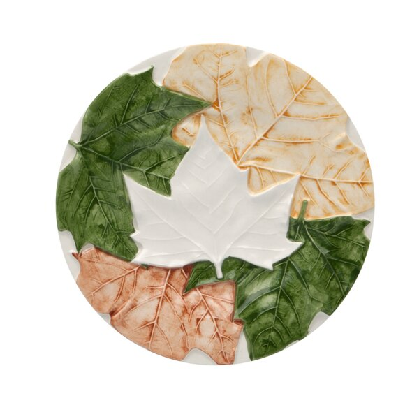 Plane Tree Leaves Bread Plate (Set of 4) by Bordallo Pinheiro