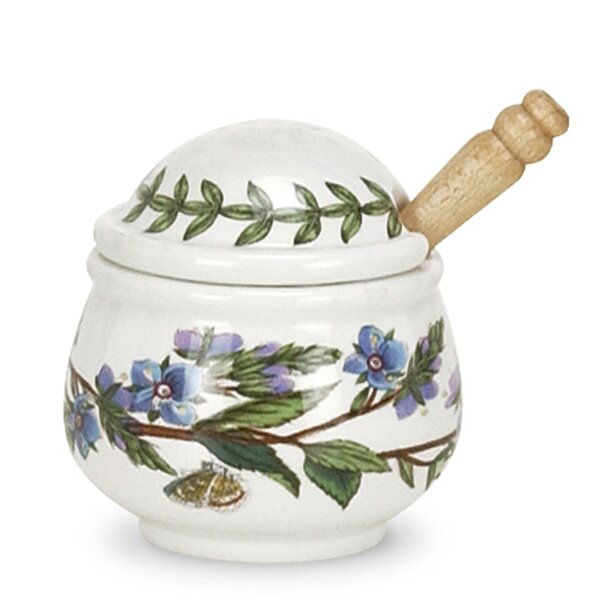 Botanic Garden Speedwell Condiment Pot with Spoon by Portmeirion