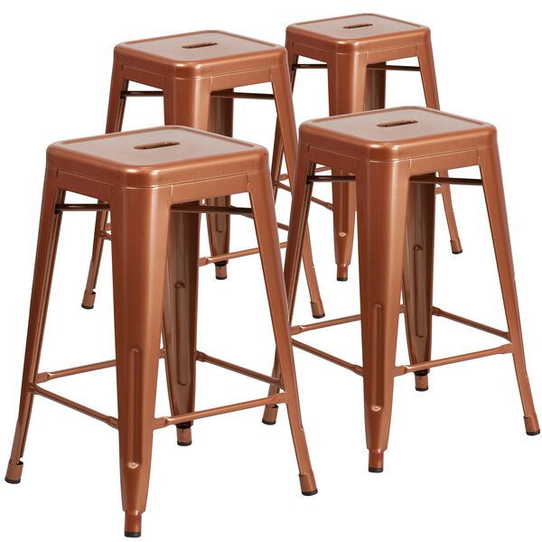 Hadsell 24 Bar Stool (Set of 4) by Brayden Studio| @ $354.54