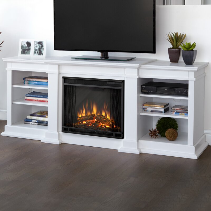 fresno tv stand for tvs up to 72 with fireplace - Tv Stands With Fireplaces
