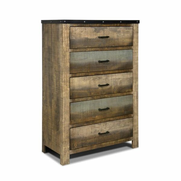 Cavallaro 5 Drawer Chest by Foundry Select