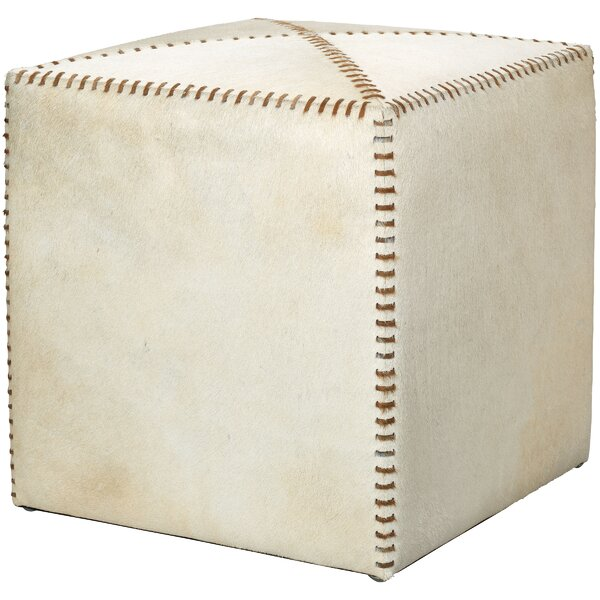 Gustavus Leather Cube Ottoman By Canora Grey