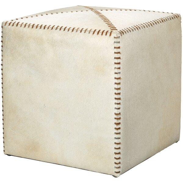 Home Décor Gustavus Leather Cube Ottoman