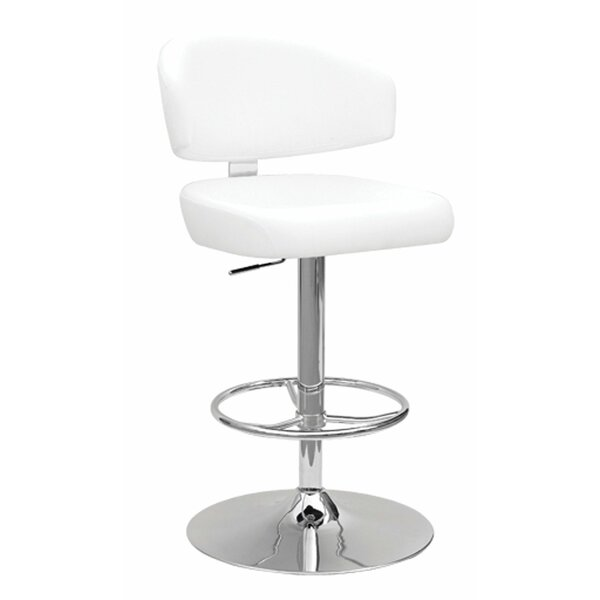 Maritza Adjustable Height Swivel Bar Stool by Orren Ellis