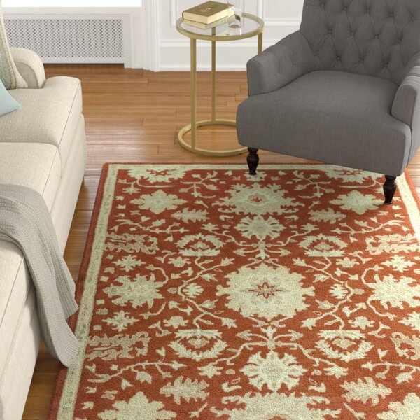 Willard Burgundy/Beige Area Rug by Charlton Home