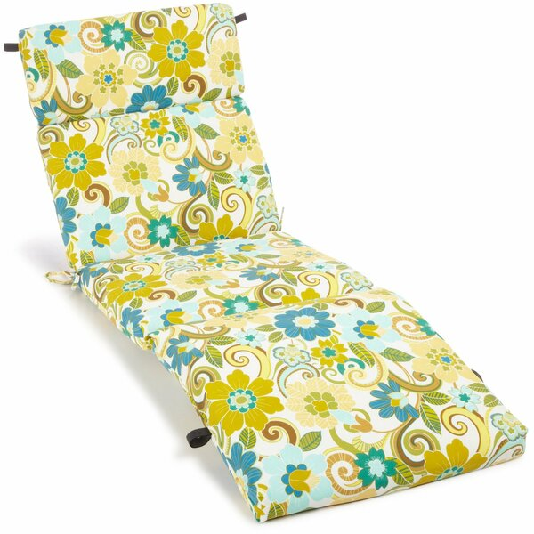 All Weather UV Resistant Veranda Indoor/Outdoor Chaise Lounge Cushion by Blazing Needles