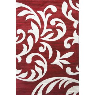 Cummington Hand-Tufted Red Area Rug by Winston Porter