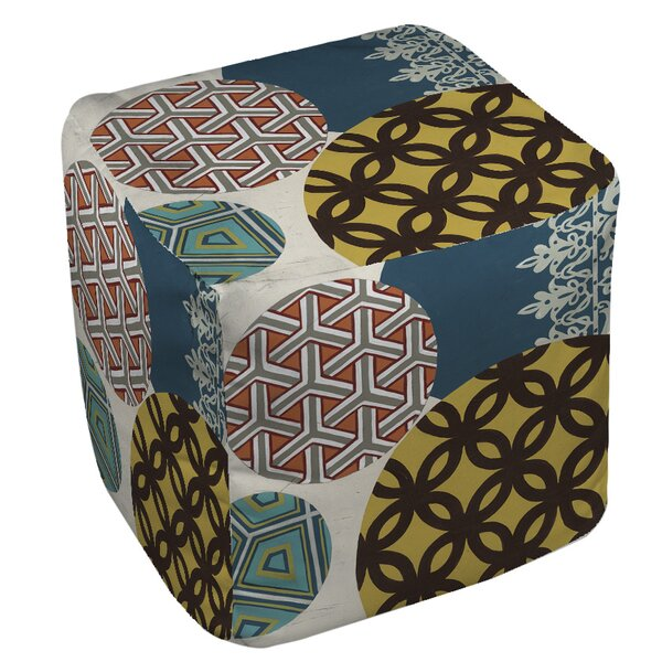 Paper Lanterns 1 Pouf by Manual Woodworkers & Weavers