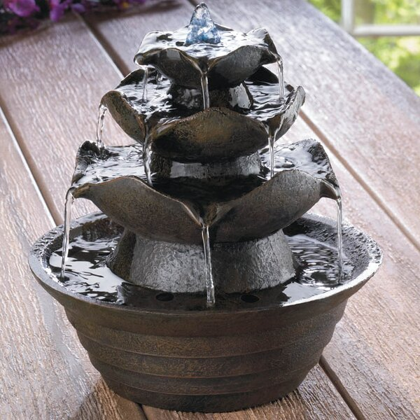 Fiberglass Lotus Tabletop Water Fountain by Zingz & Thingz