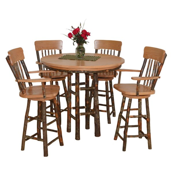 Modern Yorba 5 Piece Solid Wood Dining Set By Loon Peak New