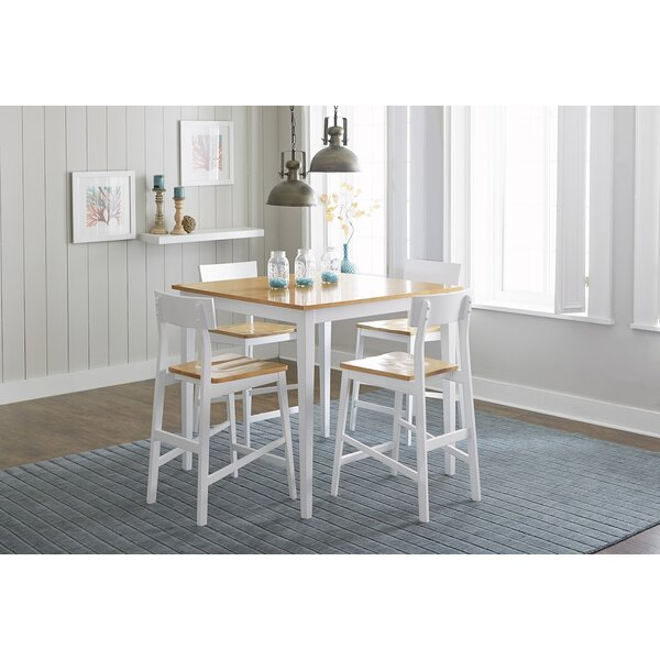 Finley Counter Height 5 Piece Dining Set by Beachcrest Home