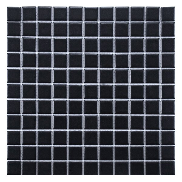 Retro 11.75 x 11.75 Porcelain Mosaic Tile in Matte Black by EliteTile