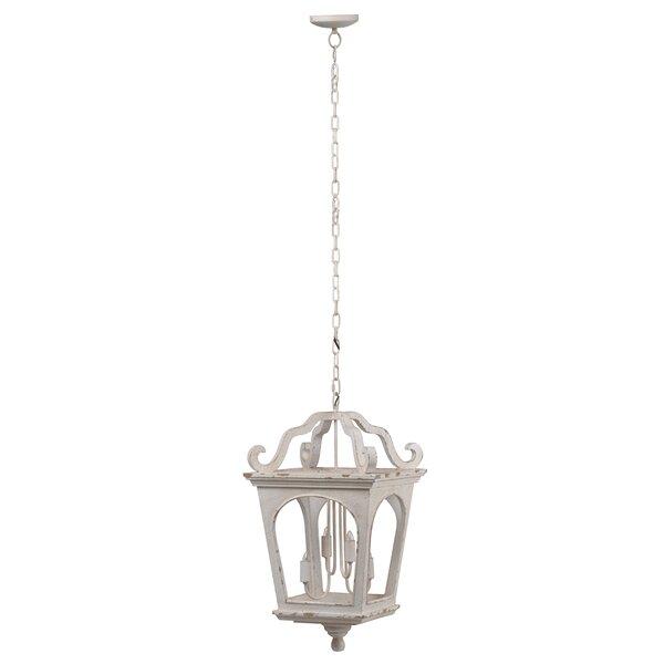 Ladwig 4 - Light Lantern Geometric Chandelier By Ophelia & Co.