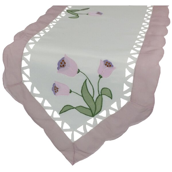 Tulip Table Runner by Xia Home Fashions