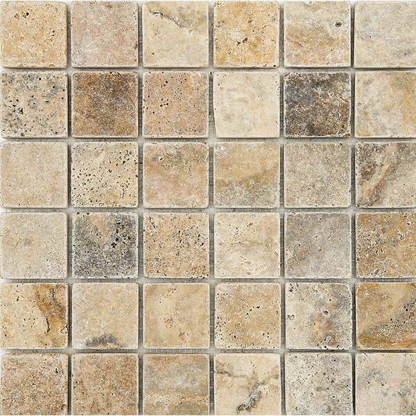 Scabos Tumbled 2 x 2 Stone Mosaic Tile by Parvatile