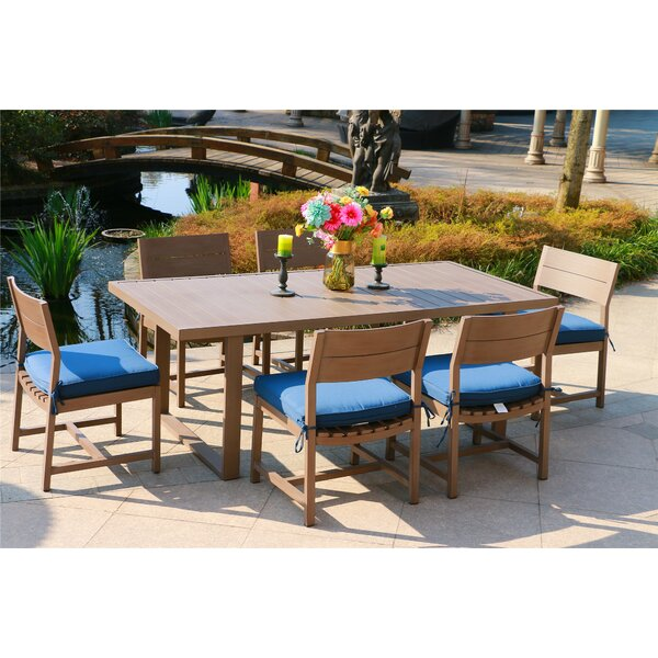 Schrader Aluminum 7 Piece Dining Set with Cushions by Red Barrel Studio