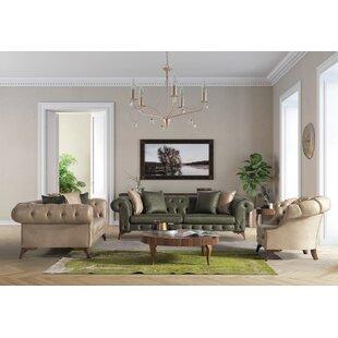 Nazarene 3 Piece Living Room Set by Canora Grey