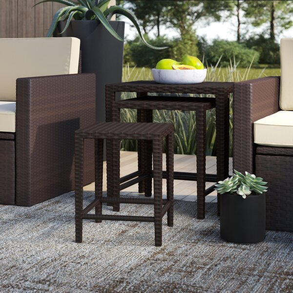 Arruda Wicker/Rattan Side Table by Mercury Row