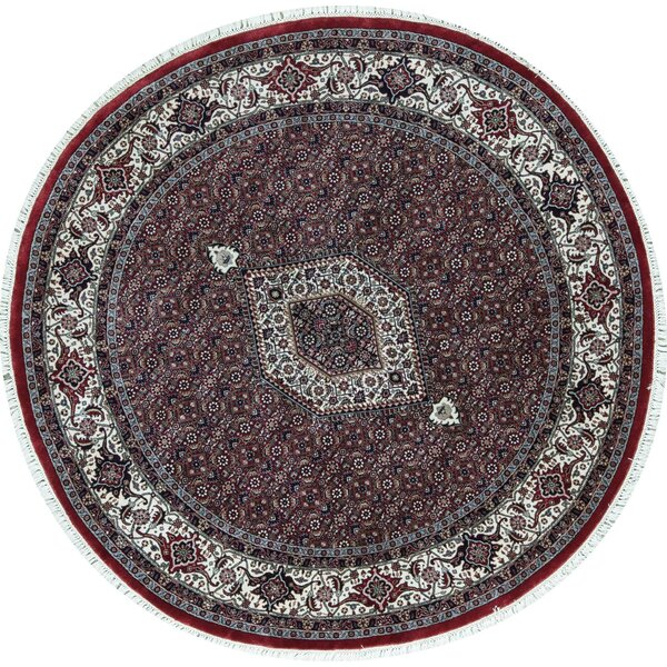 Hand-Knotted Wool Red/Ivory Rug