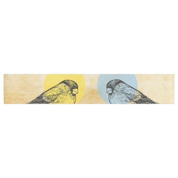 Sreetama Ray Paper Birds Table Runner by East Urban Home