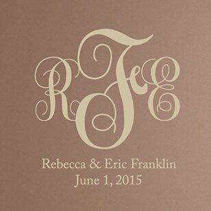 Graceful Wedding Monogram Wall Decal by Sissy Little