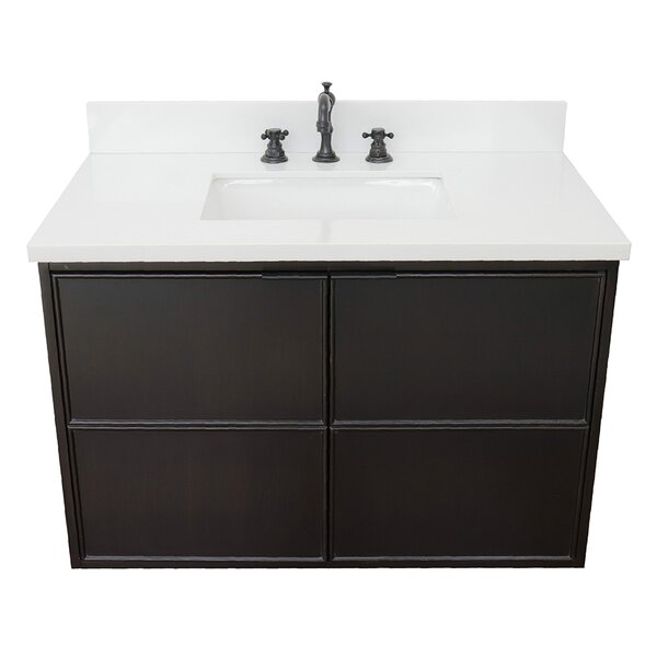 Elmhurst 37 Wall-Mounted Single Bathroom Vanity Set by Gracie Oaks