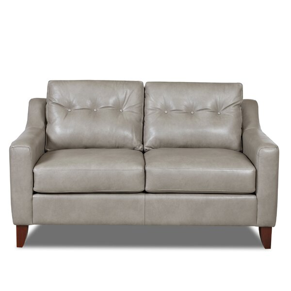 Comparison Levell Leather Loveseat by Trent Austin Design