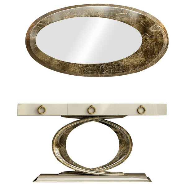 Laivai Console Table and Mirror Set