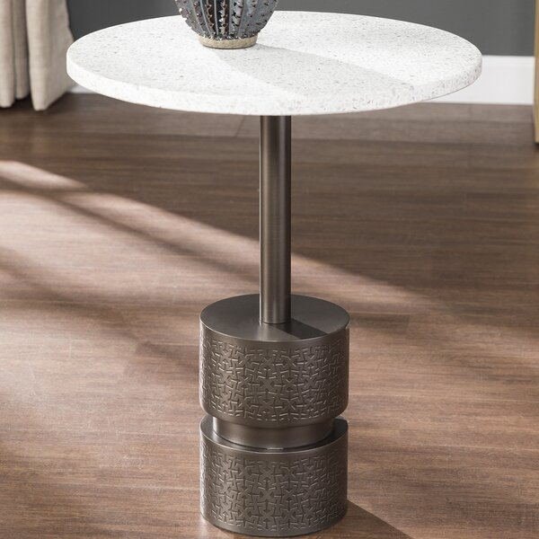Novak Marble-Top End Table by Williston Forge Williston Forge